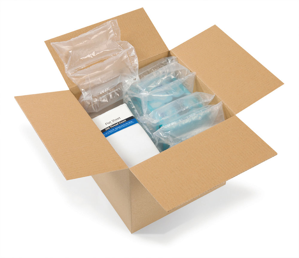 Clear pillows open box