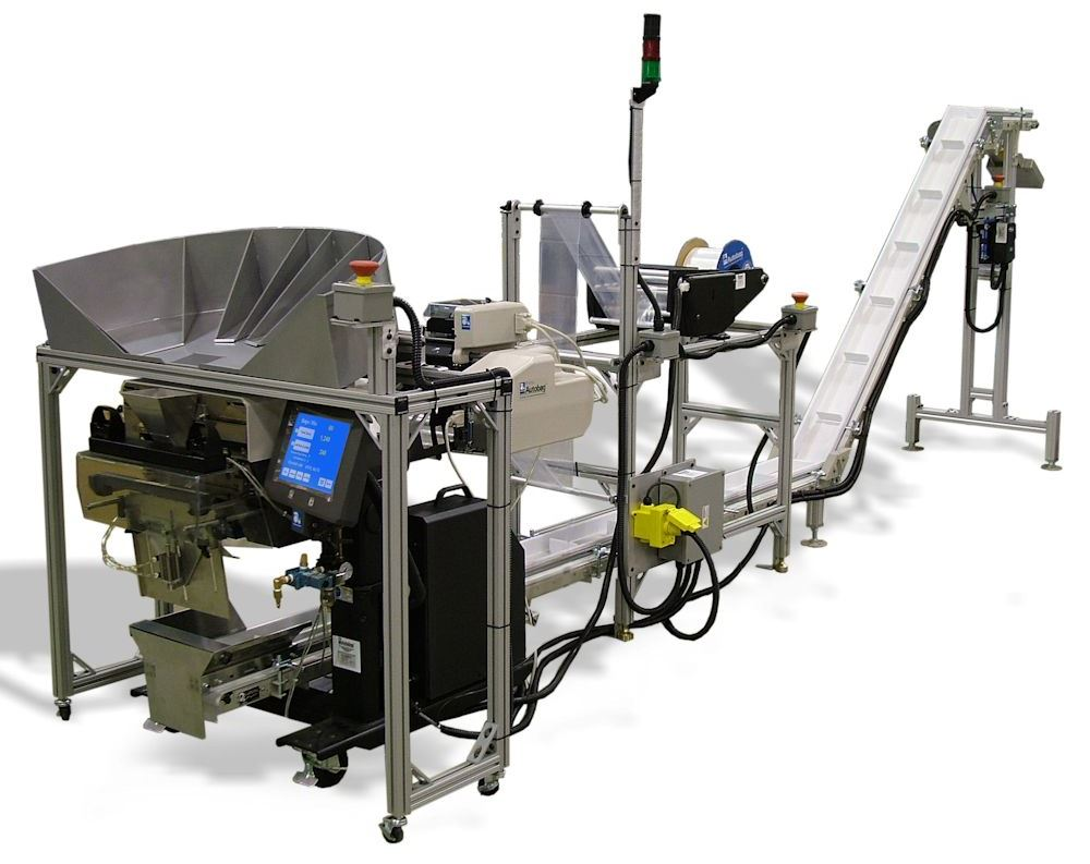 Custom Engineered Bagger with Takeaway Conveyor