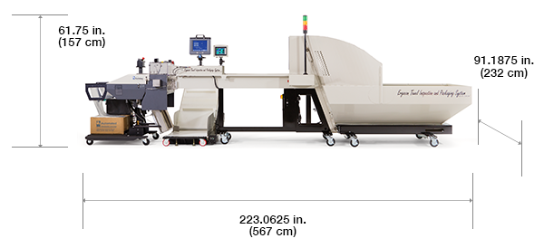 Autobag Ergocon Textile Packaging System avec dimensions